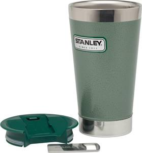 Classic Vacuum Pint 16oz - Hammertone Green - exploded view